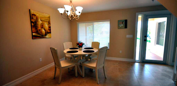 Residential dining room at Lifeskills South Florida